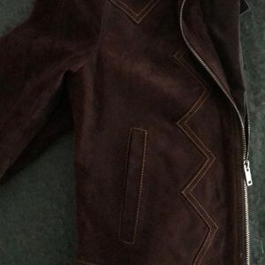 Gorgeous Chocolate Suede Fully Lined Jacket. NEW